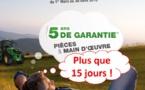 Opération Tracteur : 5 ans de garantie offerts - Plus que 15 jours !!!