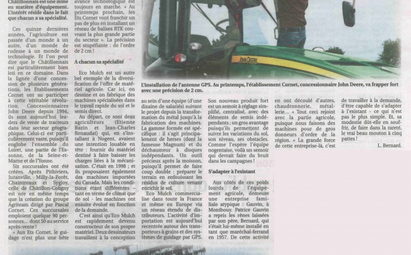 Les Ets CORNET dans la presse locale de Chatillon Coligny